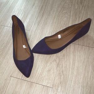 Merona Pointed Toe Drew Ballet Flats Royal Blue 10